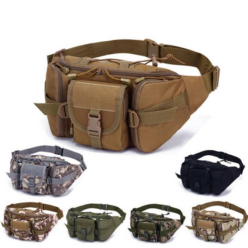 Tactical Waist Bag Pouch Haversack Messenger Bag With Bottle Pack For Camping Hi