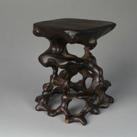 Carrinho de Exposição China Novo Bonsai Base de Escultura Em Madeira De Raiz De Madeira de Madeira Dura