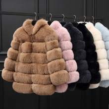 Winter Thick Warm Faux Fur Coat Women Plus Size Long Sleeve Jacket Luxury Coats Khaki Pink Beige Black