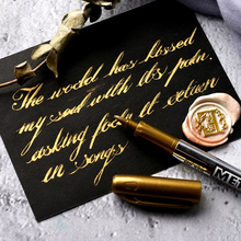 Gold Silver Paint Marker Water-base Marker Pen for Ceramics Glass Fabric Leather Dark Paper Painting Doodling DIY Arts amp crafts cheap Liquid-Ink Permanent Baoke Round Toe Other