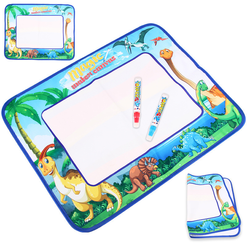 Magic Rainbow-colored Magic Water Canvas Kids' Play Mat Doing Homework Blanket Graffiti Painted Educational Early Childhood Men