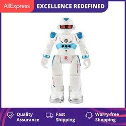 Robô de controle remoto multi-função de carregamento usb brinquedo das crianças rc robô vai cantar dança figura ação gesto sensor robô