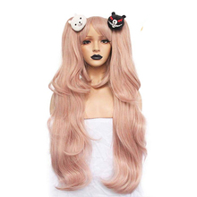 цена на HAIRJOY Synthetic Hair Light Pink Long Straight  Cosplay Wig Costume Party Wigs for Girl