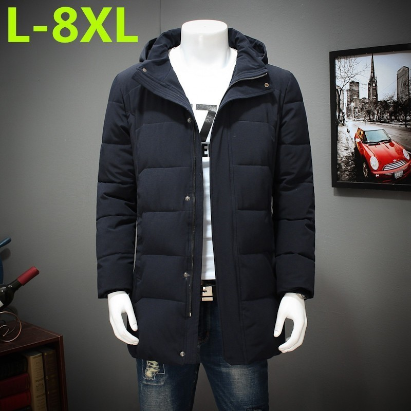 Plus Size  8XL 7XL 6XL Winter  Cotton-padded Clothes Long Youth Increase Fertilizer Enlarge Loose Coat The Fat Jacket  Overcoat