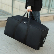 2021 Multifunction Unisex Universal Wheel Travel Bag Large Capacity Duffle Durable Oxford Simple Handbag Luggage Suitcase
