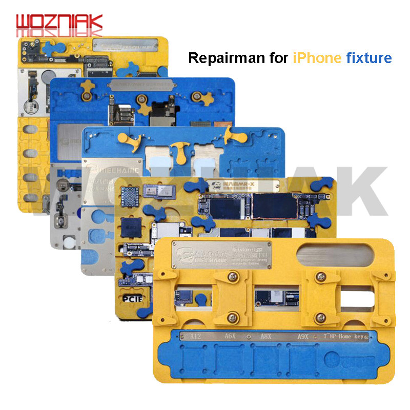 MECHANIC Main Board Clamp For Iphone 5-xsmax 11 Promax Mainboard Fixed Fixture Fingerprint Home Repair A8-A12 Chip Degumming