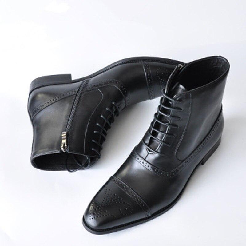 Итальянские туфли ручной работы Классический Мужские ботинки высокое качество кожи; Мужские модельные туфли; Мужская Осенняя Мужские мока...
