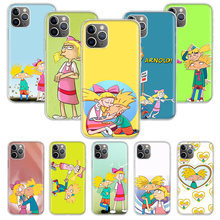 Hey Arnold Fondos Case untuk Apple Iphone 11 Pro XS Max XR X 7 8 6 6S PLUS 5 5S SE 10 Sepuluh Hadiah Silicone Phone Cover Coque(China)