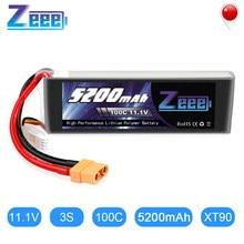 Zeee – batterie Lipo 5200mAh, 11.1V, 3S, avec connecteur XT90, pour voiture radiocommandée, quadrirotor, hélicoptère, bateau, avion