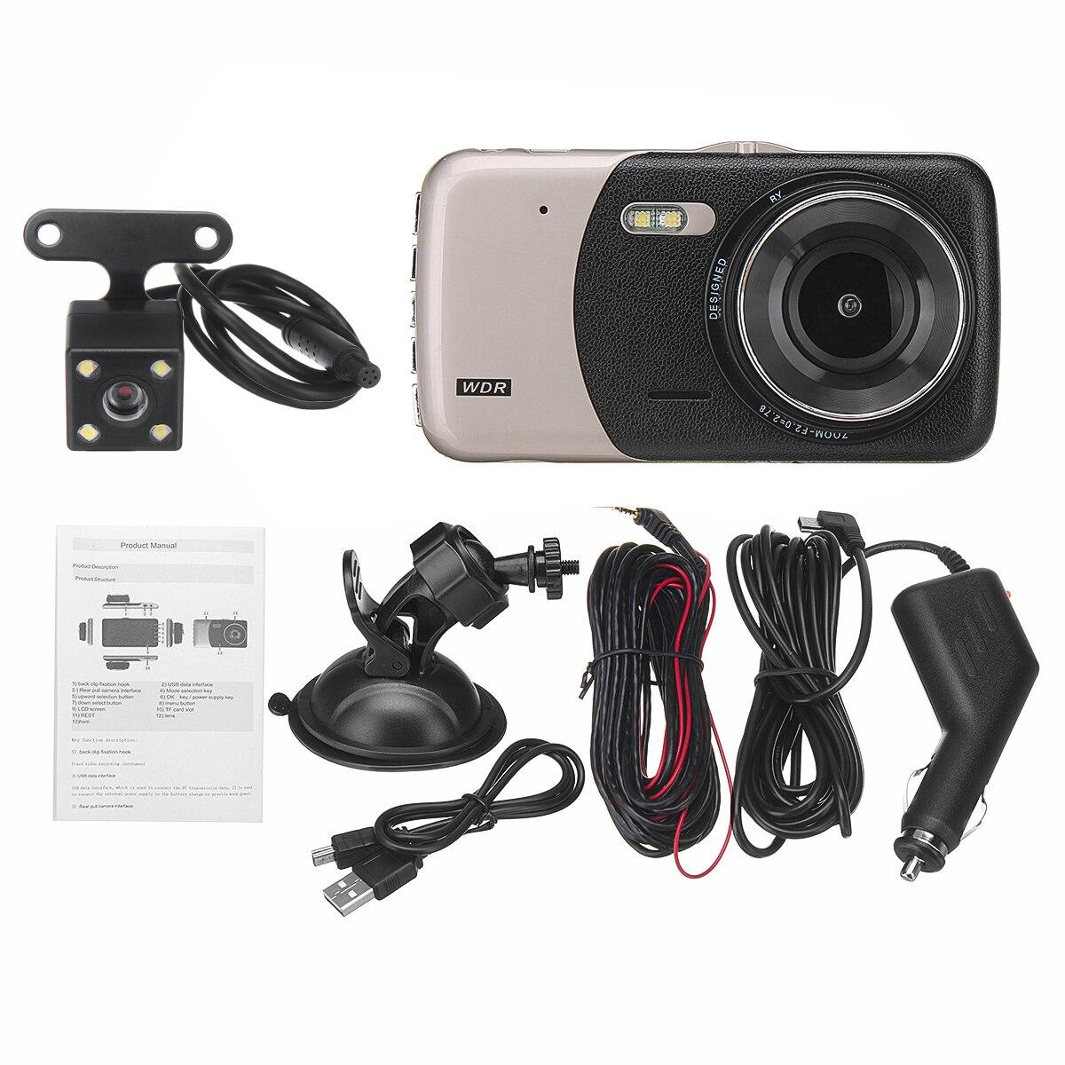 3,6 Full HD двойной объектив 170 градусов регистратор движения и камера заднего вида и кронштейн и зарядка автомобиля для автомобиля