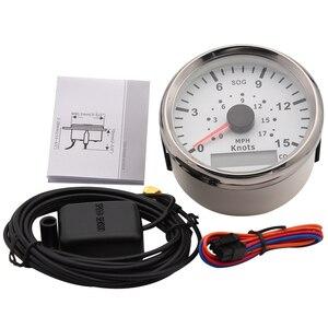 Image 2 - Velocímetro GPS de 85mm para motocicleta, medidor de velocidad Universal para barco y coche, 15 nudos, 0 17 MPH, 9 32V, para vehículos marinos, panel de instrumentos de 9 32V