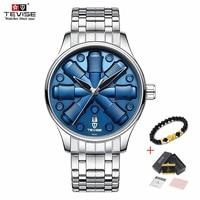 Novos Relógios Homens À Prova D' Água 2019 TEVISE Homens Automáticos Do Relógio À Prova D' Água Azul Luxo Relógio Mecânico Mens Relógios Reloj Hombre|Relógios mecânicos| |  -