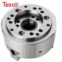 6 Inch 169mm Hydraulic Chuck 3 Jaw Hollow Power Chuck 6 & Back Plate for CNC Lathe Boring Cutting Tool Holder Hole Oil CE