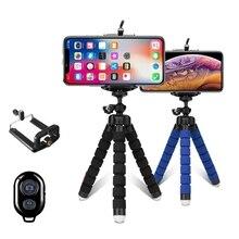 Mini trípode Portátil con Bluetooth y esponja flexible, trípode de pulpo adecuado para teléfono móvil iPhone, Samsung, Xiaomi, Gopro 8 7, cámara