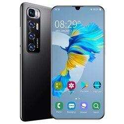 Новая глобальная версия смартфона M10 ультра 5G сети 7,2 дюймовым HD монитором под управлением Экран Snapdragon 888 12 г 512 48MP Камера Face ID мобильный телеф...