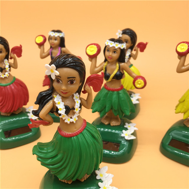 Solar Toy Solar Powered Dancing Hula Girl Swinging Bobble Toy Gift For Car Decoration Novelty Solar Dancing Toys For Children 2