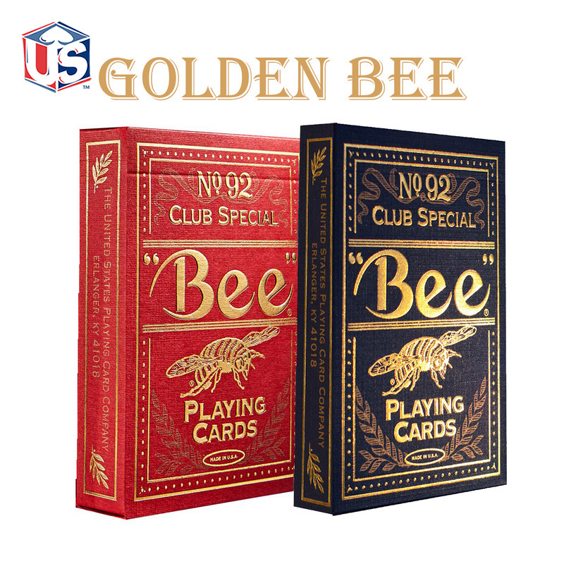 Bee Gold Edition Coterie Playing Cards Blue/Red Magia Poker USPCC New Sealed Collectable Cards Magic Tricks Props
