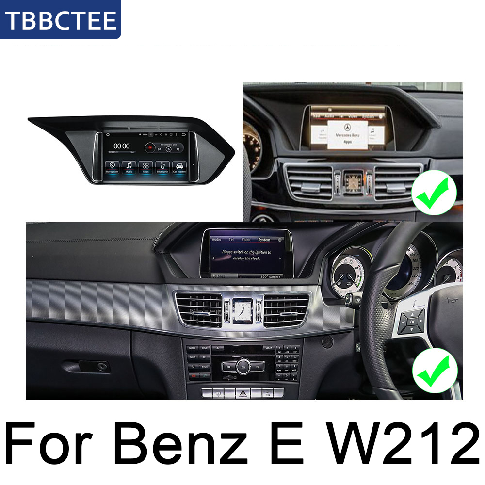 For Mecerdes Benz E <font><b>W212</b></font> 2013~2014 NTG Android car <font><b>multimedia</b></font> player gps navigation original style HD screen WiFi BT Map image