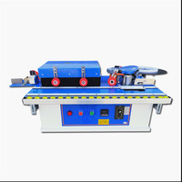 Multi 42kg edge banding trimmer machine with gluing, trimming and end cutting with rotate function for straight,curve yc 01