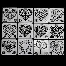 Bookmark Drawing-Molds Plastic Stencils Card-Label Craft Painting Scrapbook Flower Paper-Art