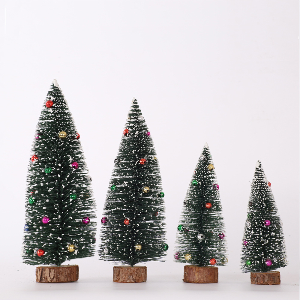 New Style Christmas Decorations Christmas Desktop Furnishings Color Pine Needle Dusting Powder Mini Small Christmas Tree