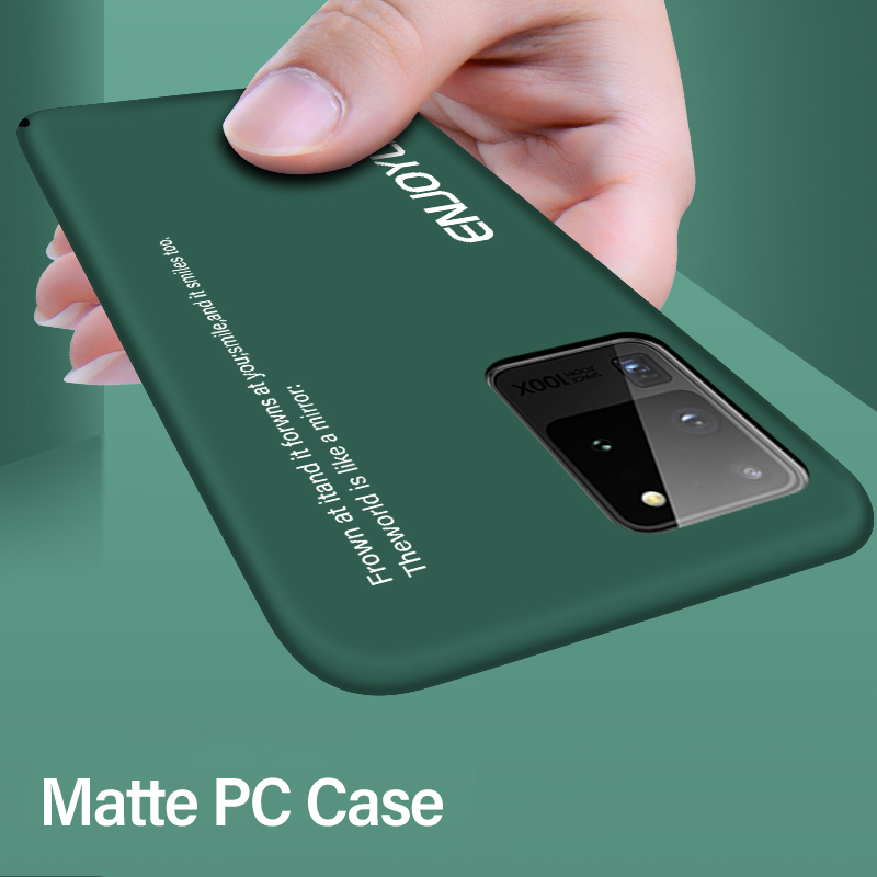 Ultra-thin Colorful Matte Hard PC Phone Case For Samsung Galaxy S20 S10 E 5G S9 S8 Note 10 9 Plus Cute Shockproof Frosted Cover 1