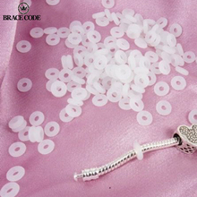 White Rubber Clip Charms Safety Stopper Beads Silicone safety non-slip hose Fits Original Brand Charm Bracelets Accessories