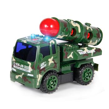 AZMA DIY model wojskowy pojazd wyrzutnia rakiet zabawka ICBM uruchomienie pojazdu dzieci zabawki konstrukcyjne klocki edukacyjne dla dzieci prezenty tanie i dobre opinie Z tworzywa sztucznego 3 lat Diecast Certyfikat 2017152203018744 L303 1 16 Don t eat Inne Rakiety DIY AND MUSIC