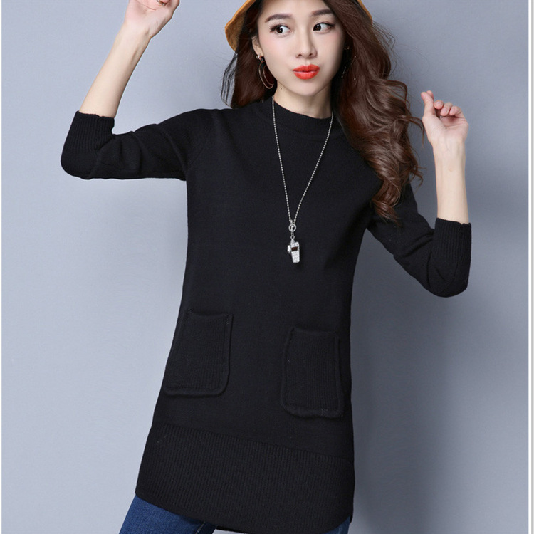 Knitted Sweater Female Pullover Plus Size Turtleneck Sweater Women Basic Bottoming Sweater