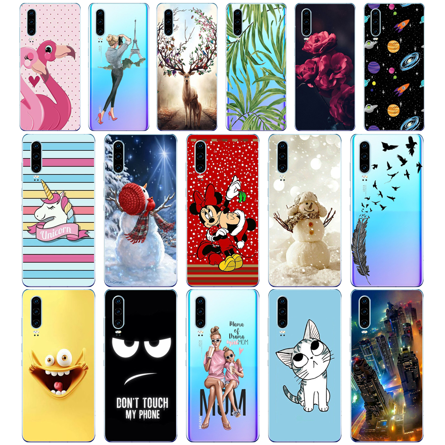 case for Huawei P30 Pro Case Huawei P30Pro Case Silicone TPU Phone Back Cover On Huawei P30 Pro VOG-L29 ELE-L29 P30 Lite Case