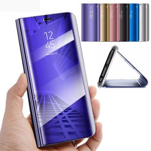 honor8a pro JAT-L41,LX1 mirror flip case for huawei honor 8a 8c 8s 8x cover case honor8c honor8s honor8x honer 8 a c s x coque(China)