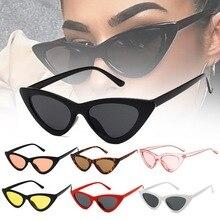 Модные милые сексуальные женские солнцезащитные очки кошачий глаз, женские винтажные Ретро маленькие треугольные очки кошачий глаз, женск...