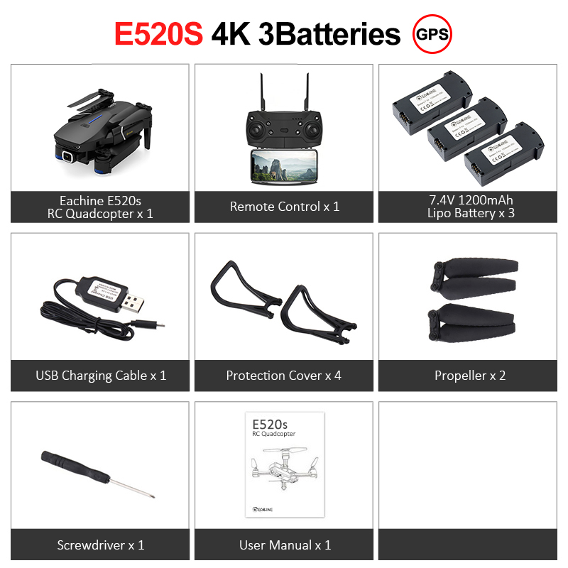 E520S 4K 3Batteries