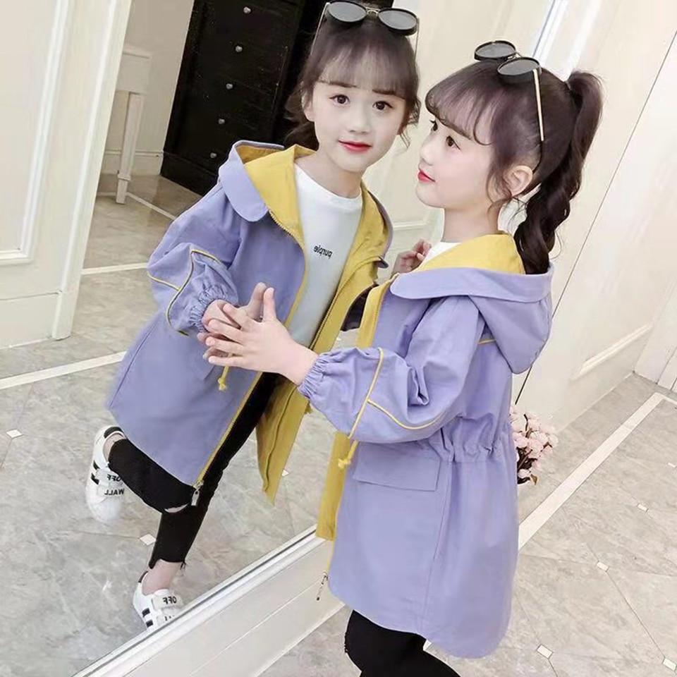 Теплая осенняя куртка для девочек, повседневная куртка с капюшоном, фиолетовая куртка для маленьких девочек, Весенняя верхняя одежда для девочек Куртки и пальто    АлиЭкспресс