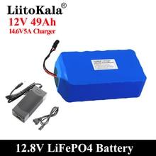 LiitoKala 12V 50Ah Lifepo4 סוללות מאוזן BMS סירה חשמלי ורצופה אספקת חשמל 12.8V עם 4S 100A BMS