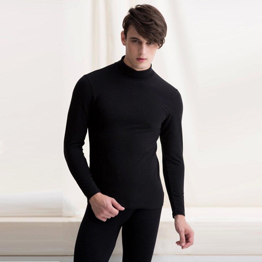 2020 New Fashion Male Thermal Underwear Men Long Autumn Winter Turtleneck Tops+Pants Set Warm Thick Tops Plus Size