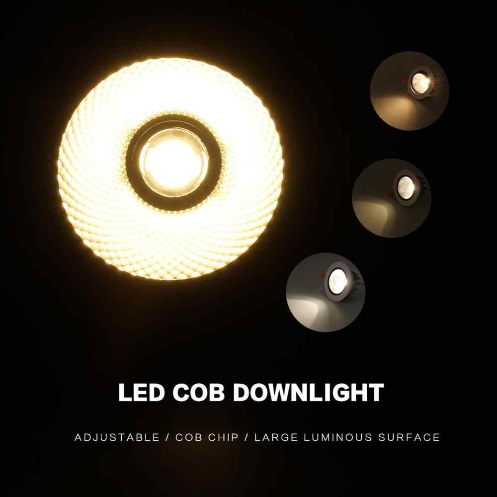 COB Downlight Led פנל שקוע למטה אור עגול 3W 5W 7W 9W 12W חדר שינה מטבח מקורה ספוט מנורת 220V 110V