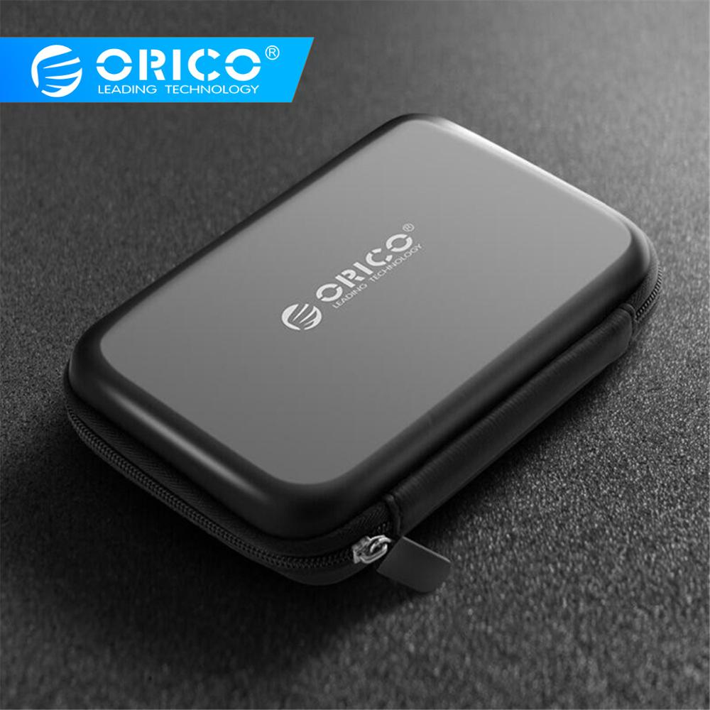 "ORICO 2.5"" HDD Case Protect Bag box for Seagate Samsung WD Hard Drive Power Bank USB Cable Charger External Hard Disk pouch Case(China)"