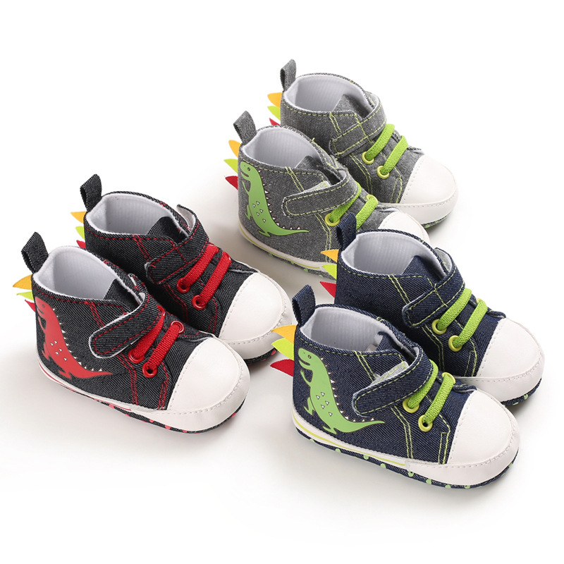 2019 New Spring And Autumn Model 0-1 Year Old Baby Walking Shoes Soft Sole Baby Shoes Cartoon Dinosaur Casual Shoes