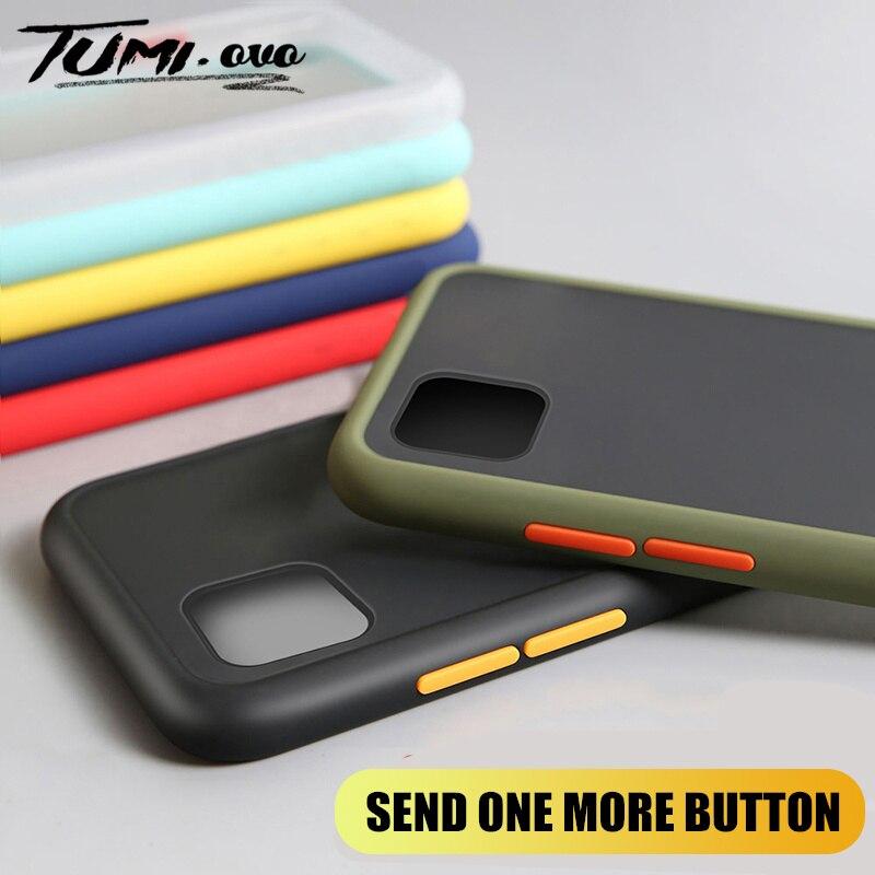 Phone Case For Redmi Note 8 8T 7 6 5 4 4X K20 Pro 8A 7A 6A Luxury Matte Hard PC Case for Xiaomi Mi 9 9T CC9 CC9E Note 10 A3 Lite(China)