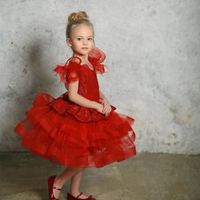 Baby Girl Dress Puffy Princess Gown Summer Infant Birthday Dress Christmas Party Dress Kids Clothes 1-14Y Photography
