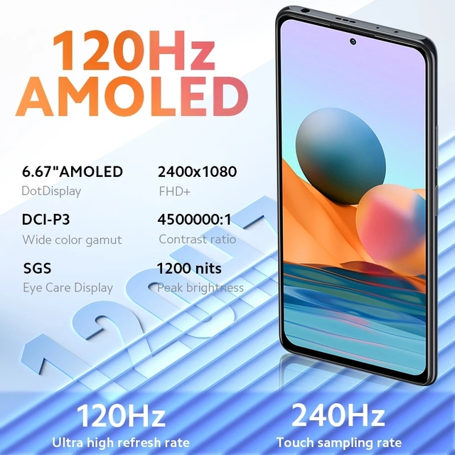 Global Version Xiaomi Redmi Note 10 Pro 6GB 64GB/128GB Smartphone 108MP Quad Camera Snapdragon 732G 120Hz AMOLED Display NFC 3