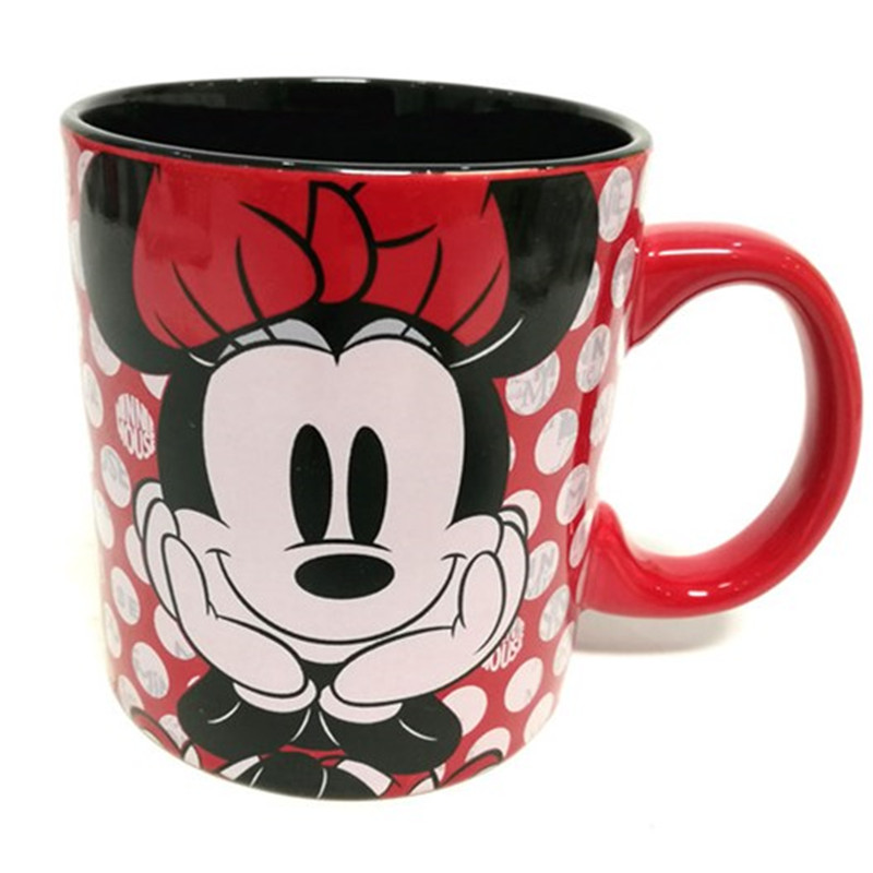 400ml Disney Minnie Mickey Water Cup Milk Coffee Tea Ceramic Mugs Home Office Collection Cups Love Couple Women Girl Gifts