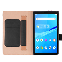 style protective For Lenovo Tab M7 TB-7305F Tablet Case Retro Style PU Leather Case Flip Stand Card Slots Protective Cover And Elastic Hand Strap (3)