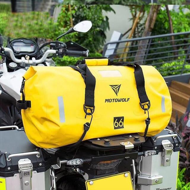 Motorcycle Travel Dry Bag Waterproof duffle Bag 40L/66L/80L /90L/Motorbike Moto Luggage Motorcycle Rear Seat Tail Bag