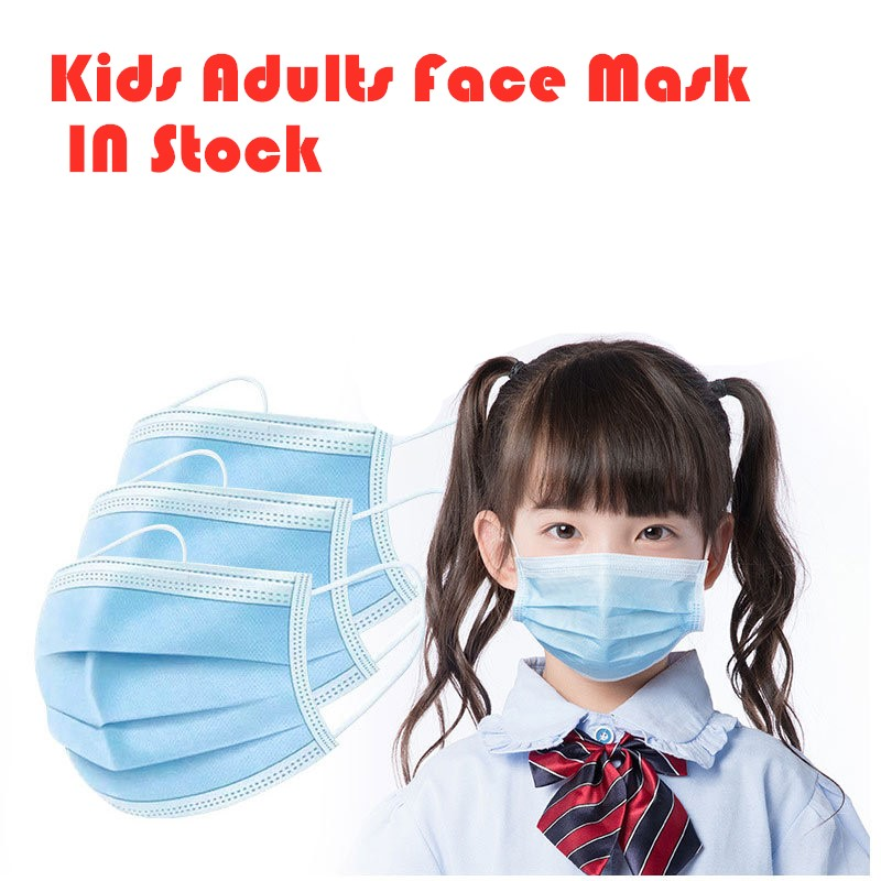 50pcs Anti-Dust Dustproof  Waterproof Earloop Face Mouth Masks  Mondmasker Kids Mask Facial Protective Cover Masks