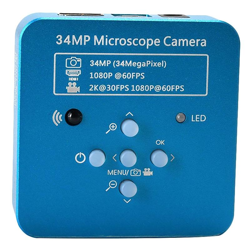 Tüketici Elektroniği'ten 360 ° Video Kamera'de 34Mp 2K 1080P 60Fps Hdmi Usb endüstriyel elektronik dijital Video lehimleme mikroskop kamera büyüteç telefon Pcbtht tamir title=