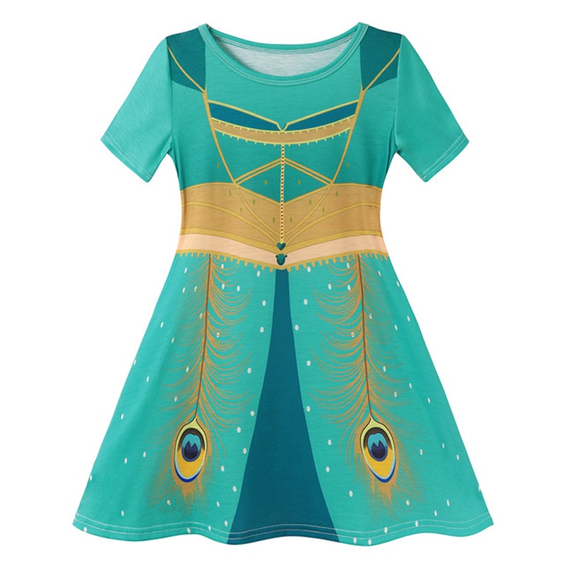VOGUEON Baby Girl Elsa Dress Fancy Anna Halloween Birthday Party Cosplay Costumes Kids Jasmine Mermaid Dresses Girls Clothing 6