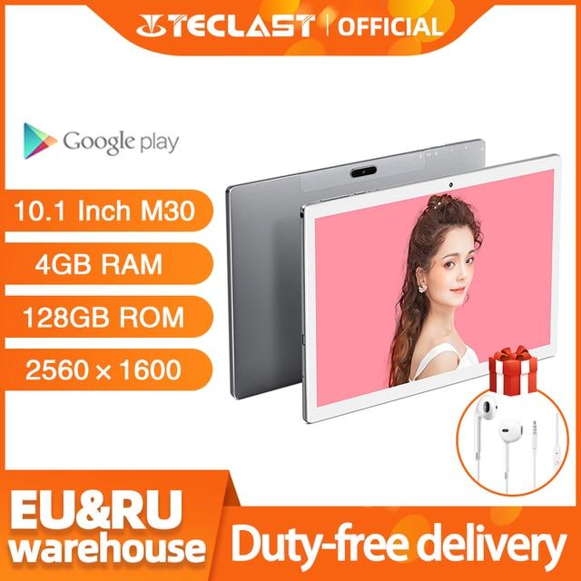 Najnowszy Tablet Teclast M30 10.1 cala MT6797 X27 Deca Core 2560x1600 ekran 2.5K IPS podwójny 4G 4GB RAM 128GB ROM Tablet z androidem pc