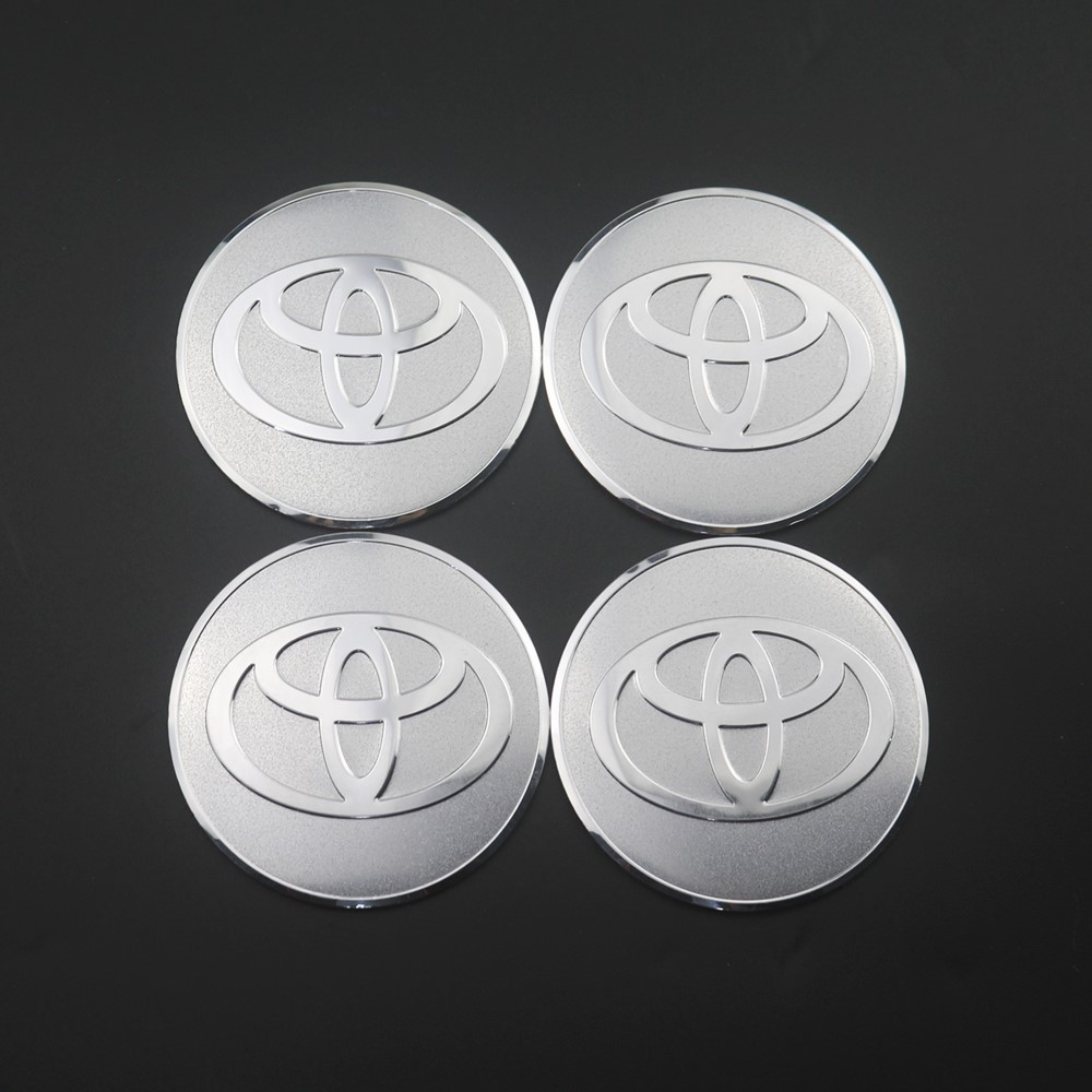 4Pcs Wheel Center Hub Cap Stickers 56.5mm emblems For Toyota camry chr corolla rav4 yaris prius Car Styling